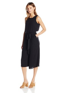 Vince Camuto Women's Crepe Sleeveless Wide Leg Jumpsuit
