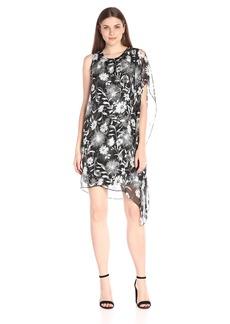 Vince Camuto Women's Dandelion Dress with Chiffon Overlay
