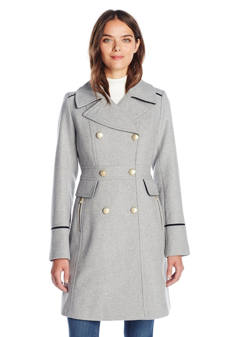 Vince Camuto Women's Db Military Inspired Wool Coat