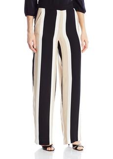Vince Camuto Women's Deco Bold Stripe Wide Leg Pants