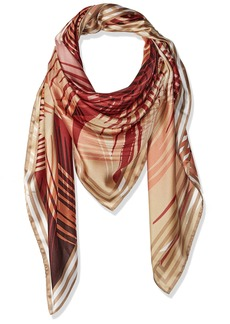 Vince Camuto Women's Desert Palms Oversized Square Scarf red