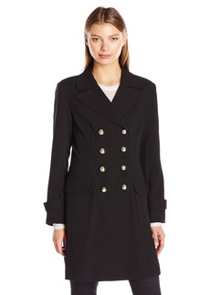 Vince Camuto Women's Double-Breasted Coat With Patch Pockets
