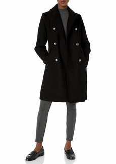 Vince Camuto Women's Double-Breasted Long Wool Coat  XS