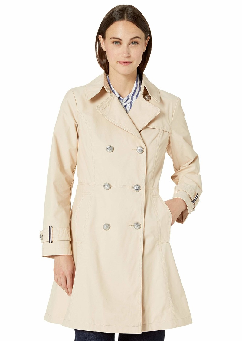 VINCE CAMUTO Women's Double-Breasted Trench Coat Rain Jacket  S