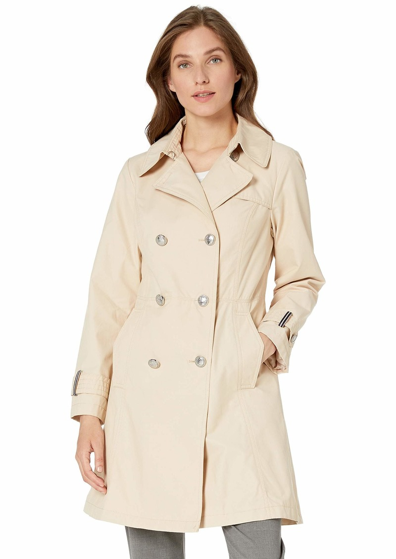 VINCE CAMUTO Women's Double-Breasted Trench Coat Rain Jacket  XL