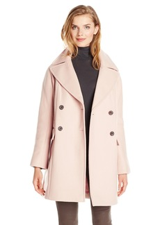 Vince Camuto Women's Double Breasted Wool Coat  X-Large