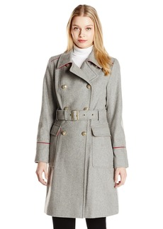 Vince Camuto Women's Double Breasted Wool Trench Coat