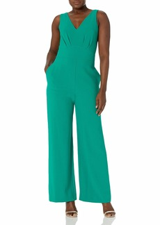 Vince Camuto Womens DOUBLE V JUMPSUIT EMERALD