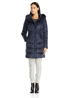 Vince Camuto Women's Down Coat with Faux Fur Trim Collar