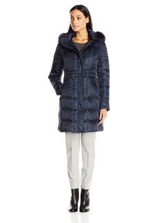 Vince Camuto Women's Down Coat with Faux Fur Trim Collar