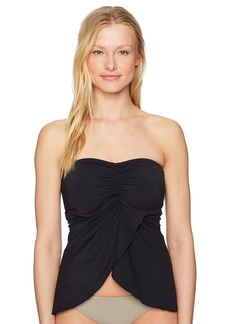 Vince Camuto Women's Draped Bandini Top Swimsuit with Removable Straps