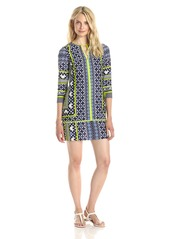 VINCE CAMUTO Women's ed Shirt Dress with Piping