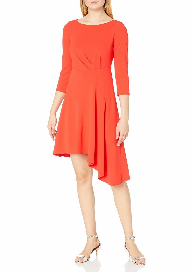 Vince Camuto Women's Elbow Sleeve Crepe Ponte Dress