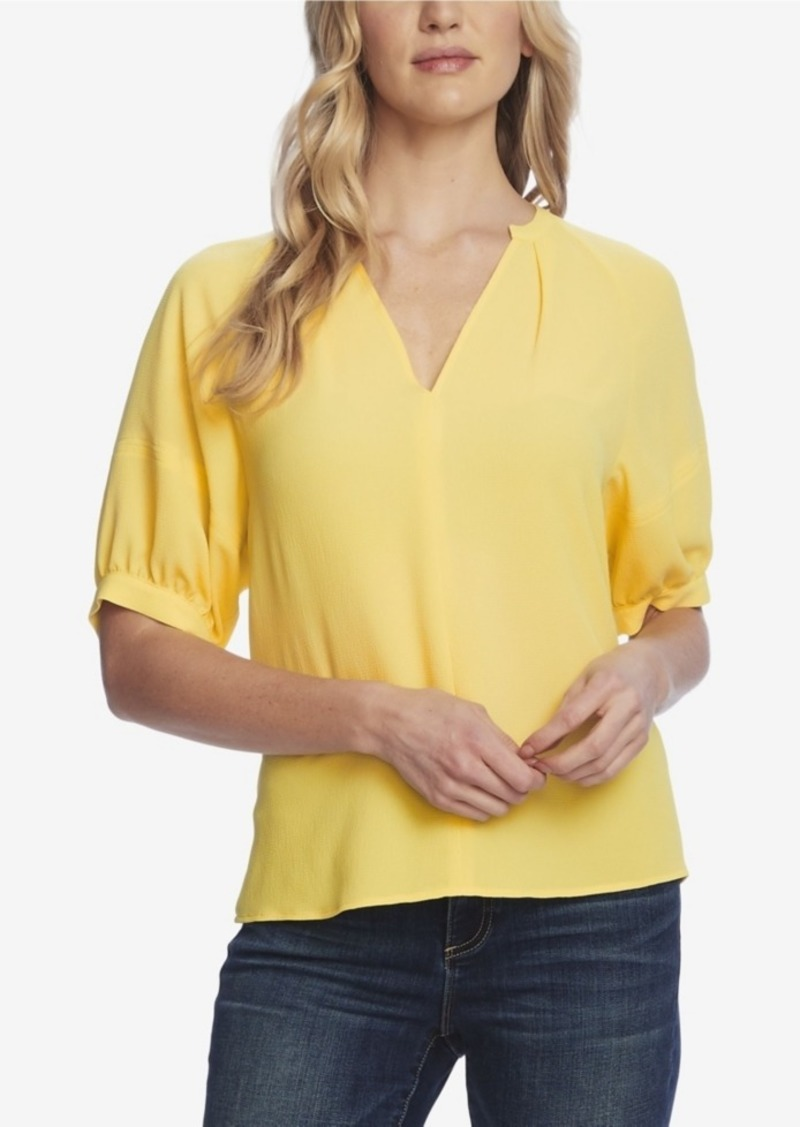 Vince Camuto Women's Elbow Sleeve Split Neck Blouse