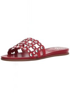 Vince Camuto Women's Ellanna Slide Sandal Cherry red  Medium US