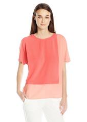 Vince Camuto Women's Extend Shoulder Colorblocked Blouse  XS