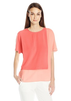 Vince Camuto Women's Extend Shoulder Colorblocked Blouse  XS