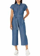 Vince Camuto Women's Extend Shoulder Denim Shirting Jumpsuit  25/