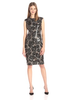 Vince Camuto Women's Extended Cap Sleeve Bodycon Dress