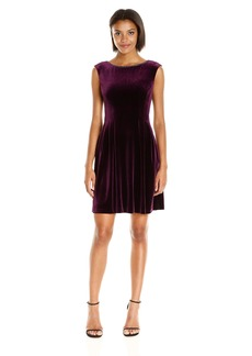 Vince Camuto Women's Extended Cap Sleeve Fit and Flare Dress