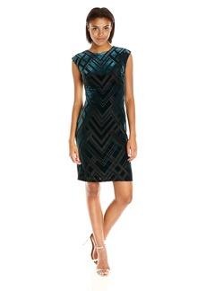 Vince Camuto Women's Extended Cap Sleeve Sheath Dress