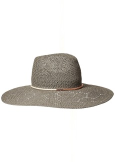 Vince Camuto Women's Eyelet Woven Panama Hat