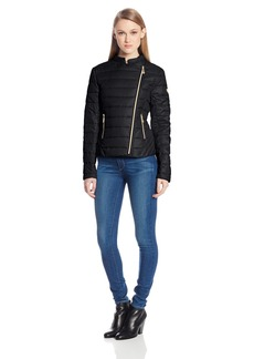 Vince Camuto Women's Feather Weight Down Asymmetrical Zip Jacket