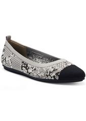 Vince Camuto Women's Femillie Cap-Toe Washable Knit Flats Women's Shoes