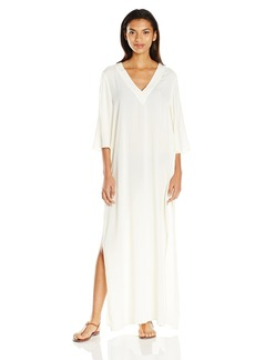 Vince Camuto Women's Fiji Solids V-Neck Long Caftan Cover up  L