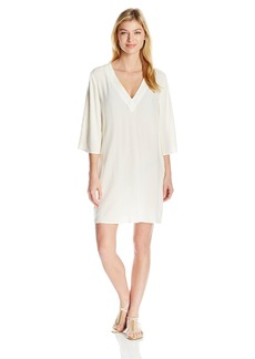 Vince Camuto Women's Fiji Solids V-Neck Short Caftan Cover up  XS