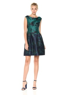 Vince Camuto Women's Fit and Flare Jacquard Dress