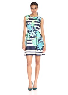 Vince Camuto Women's Fit and Flare Scuba Dress