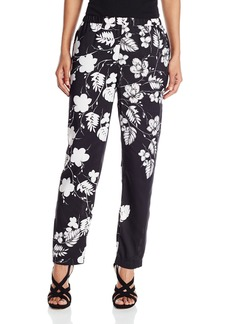Vince Camuto Women's Floral Cascade Straight-Leg Pull-on Pant