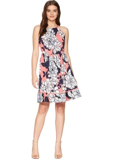 Vince Camuto Women's Floral Halter Fit and Flare Dress