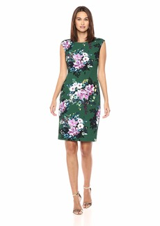 VINCE CAMUTO Women's Floral Patterned Bodycon Dress