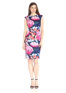 Vince Camuto Women's Floral Printed Bodycon Dress
