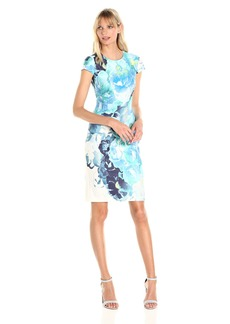 Vince Camuto Women's Floral Scuba Bodycon Dress
