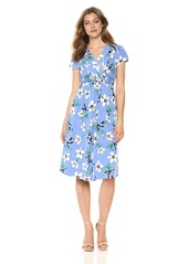 Vince Camuto Women's Floral Smocked Knit Dress