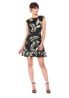 Vince Camuto Women's Flounce Hem Dress