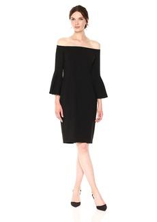 Vince Camuto Women's Flounce Sleeve Bodycon Dress