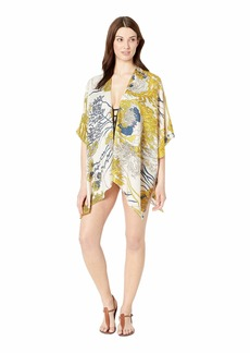Vince Camuto Women's Flower Field Kimono yellow