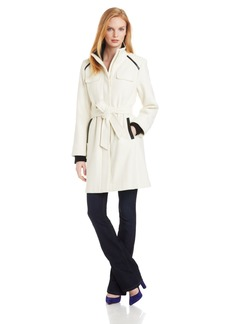 Vince Camuto Women's Funnel Neck Wool Coat