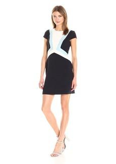 Vince Camuto Women's Geometric Crepe Shift Dress