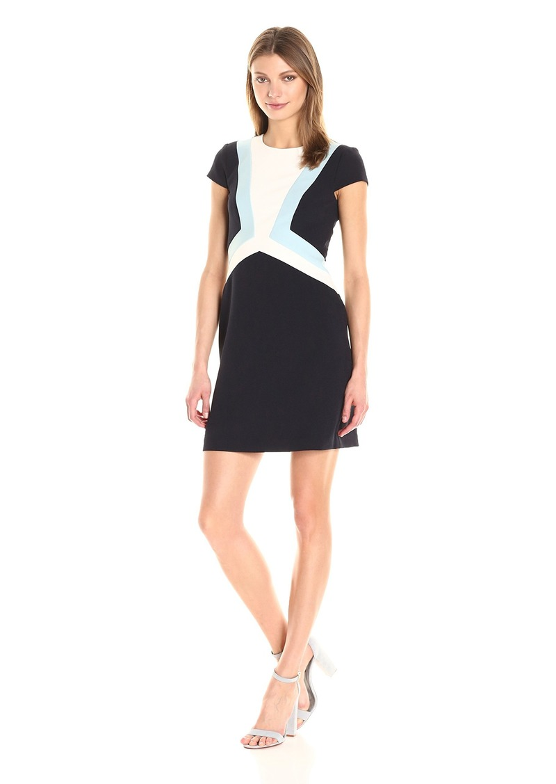 Vince Camuto Women's Geometric Crepe Shift Dress