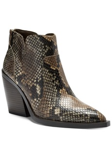 Vince Camuto Women's Gradesha Stacked-Heel Booties Women's Shoes