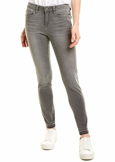 Vince Camuto Women's Grey Five Pocket Released Hem Jean  25/