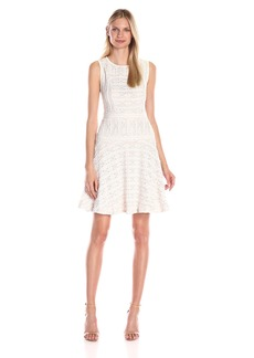 Vince Camuto Women's Horizontal Lace Flare Dress