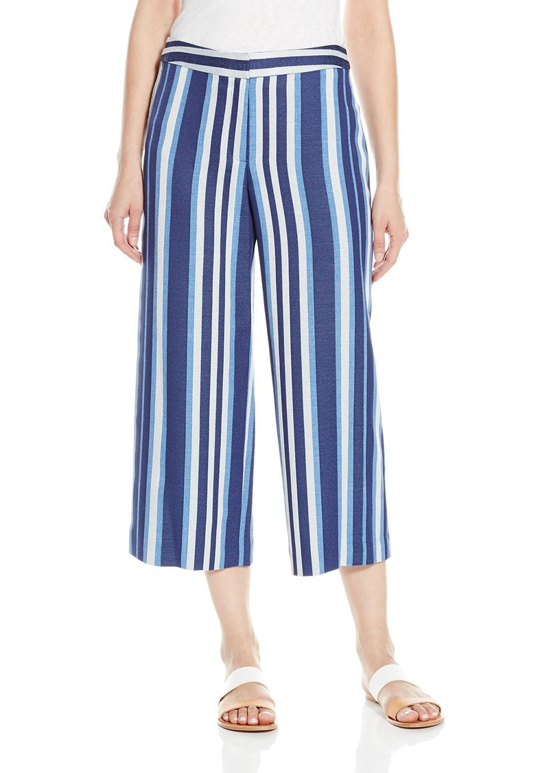 Vince Camuto Women's Indigo Multi Stripe Culottes