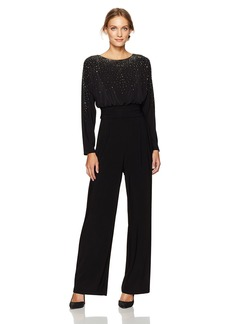 Vince Camuto Women's Ity Boat Neck Jumpsuit  S