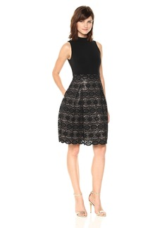 Vince Camuto Women's Ity Two-Fer Bonded Lace Dress
